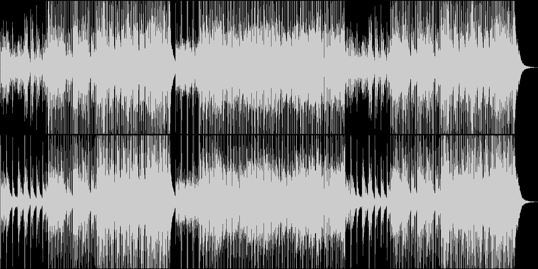 ピアノとギターのアドリブが楽しい楽曲の未再生の波形