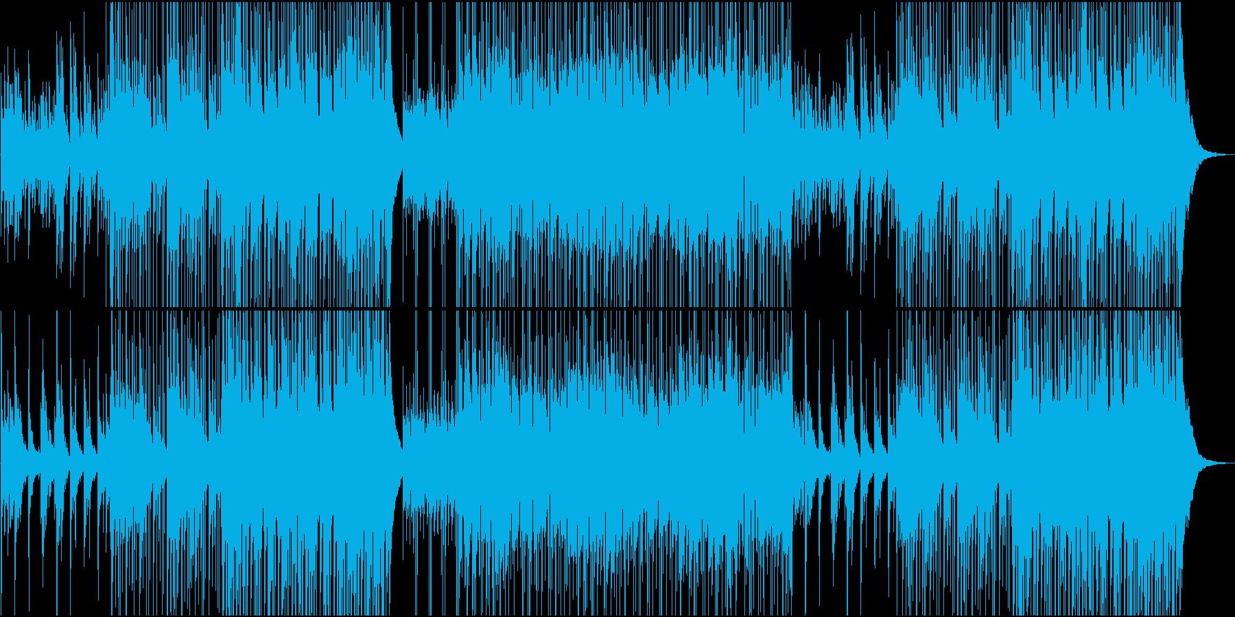 ピアノとギターのアドリブが楽しい楽曲の再生済みの波形