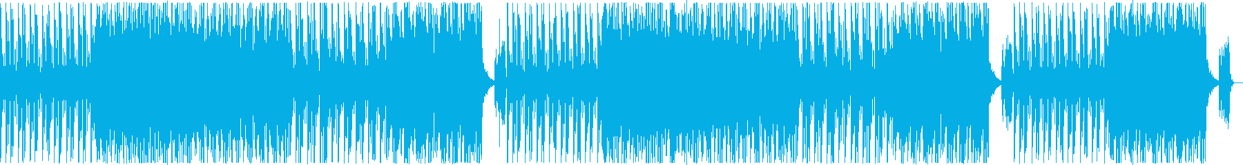 ポップで可愛いテクノミュージックの再生済みの波形