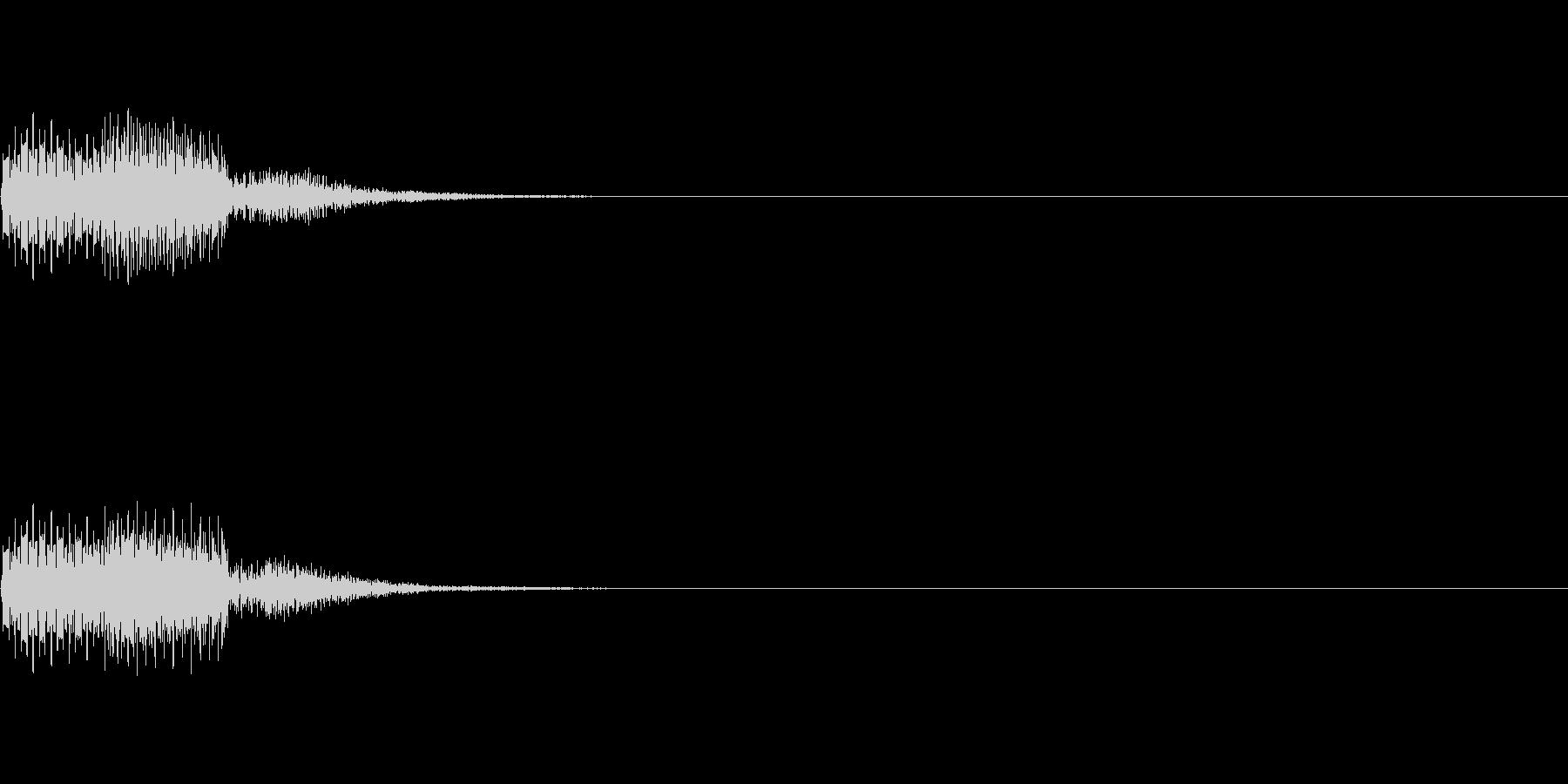 ピコッ(ゲーム・アプリ等のセレクト音) の未再生の波形