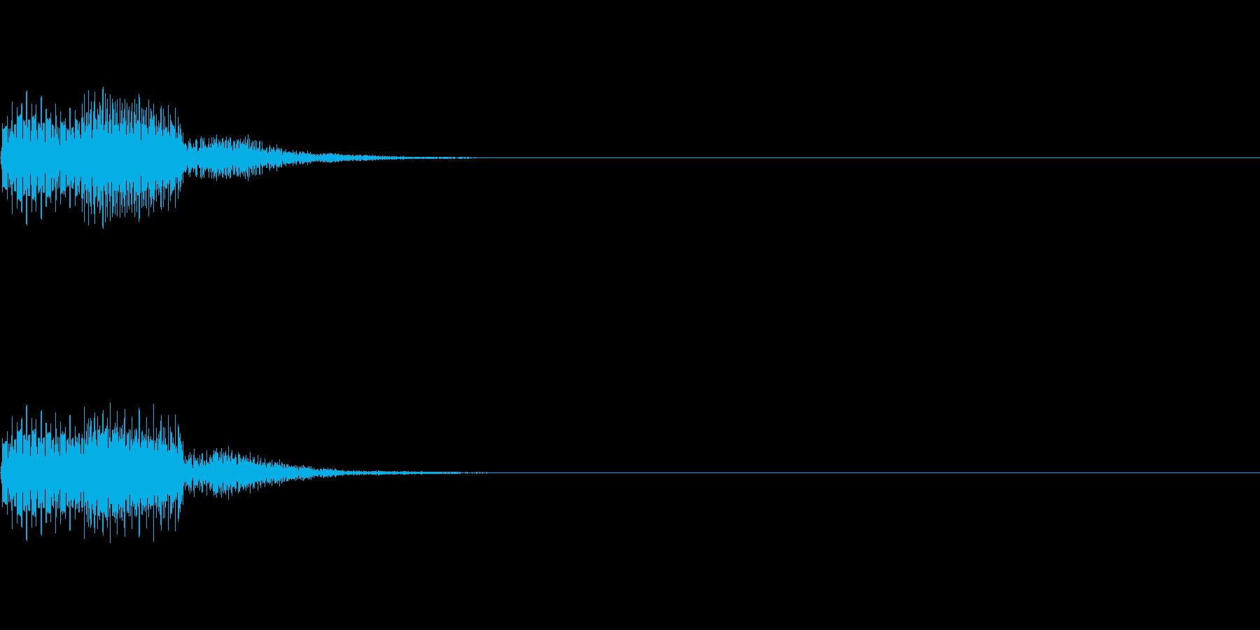 ピコッ(ゲーム・アプリ等のセレクト音) の再生済みの波形