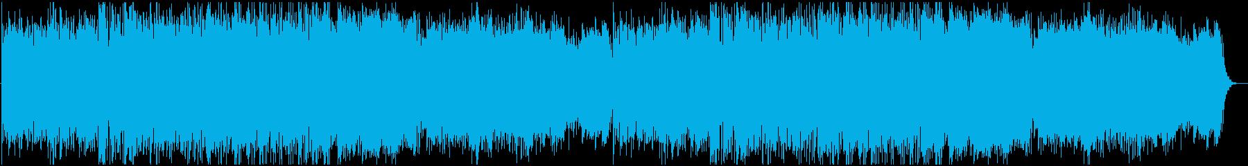 寂しげなフォーク曲の再生済みの波形