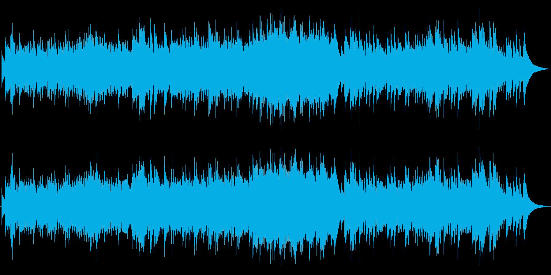 優しい子守唄のようなオルゴールサウンドの再生済みの波形