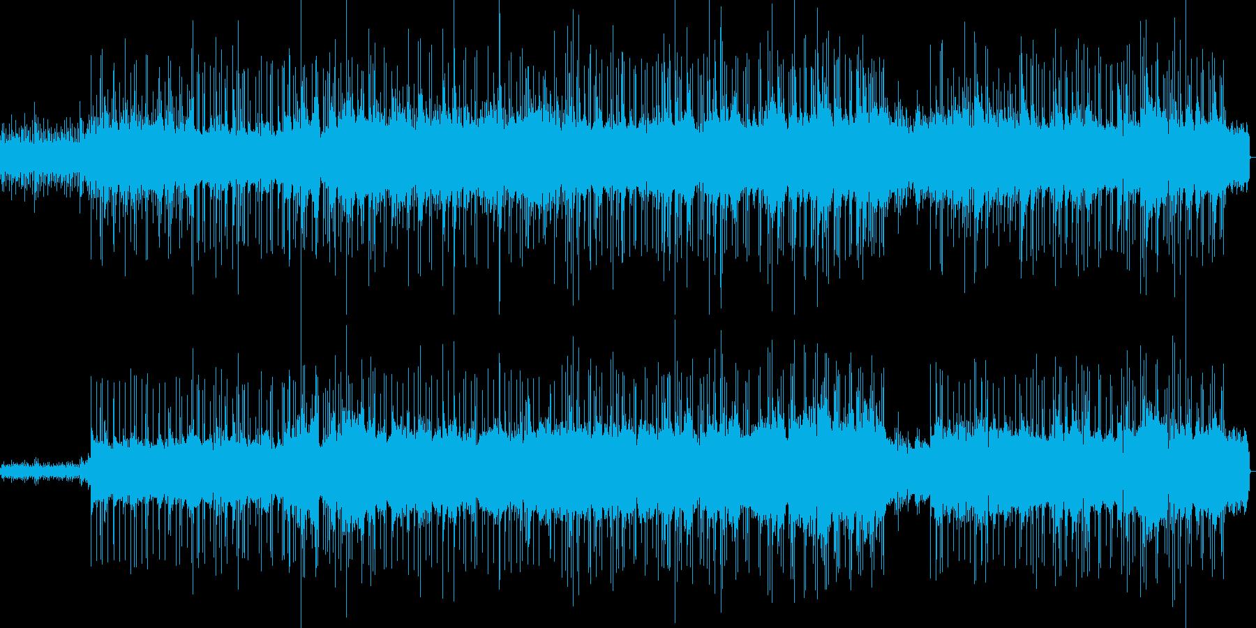おしゃれでまったりしたメロディーの再生済みの波形