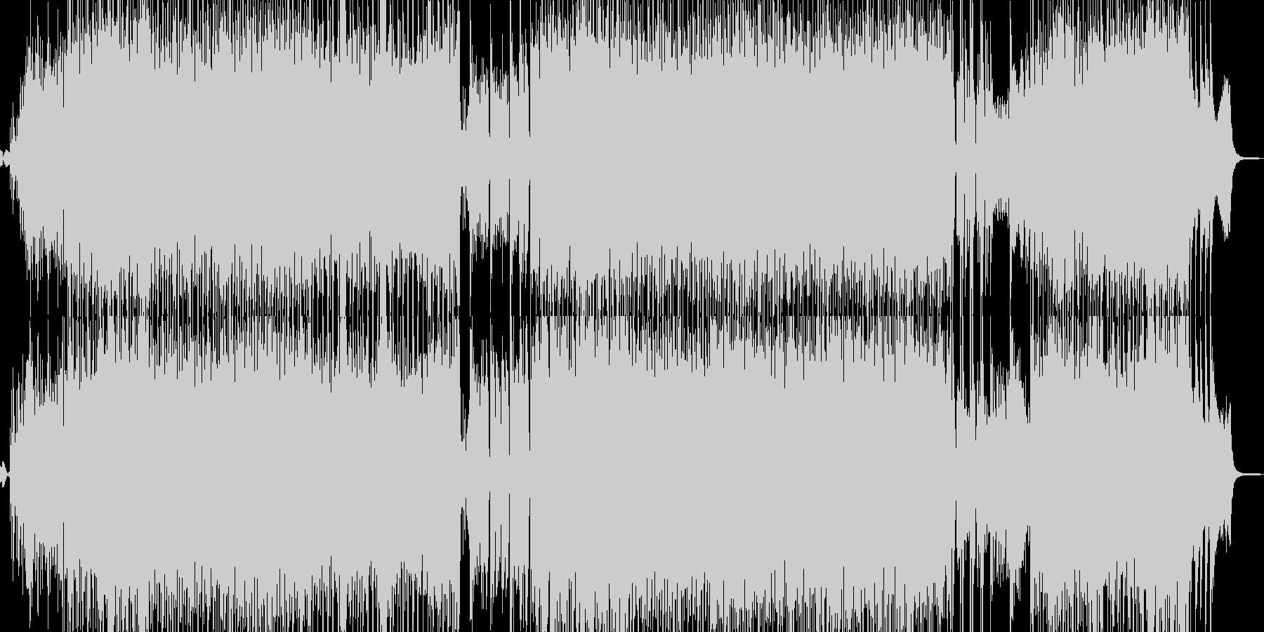 夏のホコ天イメージのパレードテクノの未再生の波形