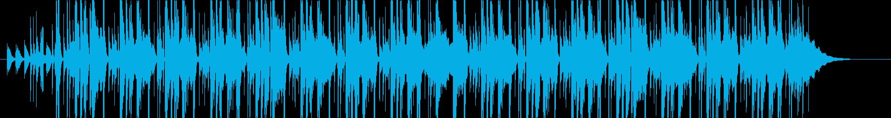 メロウなヒップホップBGMの再生済みの波形