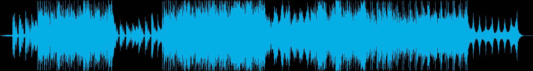 透明感のあるハッピーなピアノBGMの再生済みの波形