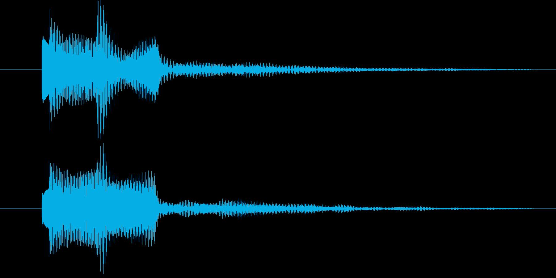 クリア、正解、OK、キラキラ、爽快の再生済みの波形