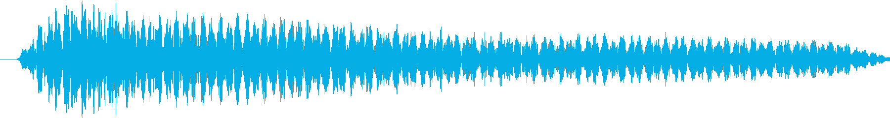 短めのノイジーな演出する音です。の再生済みの波形