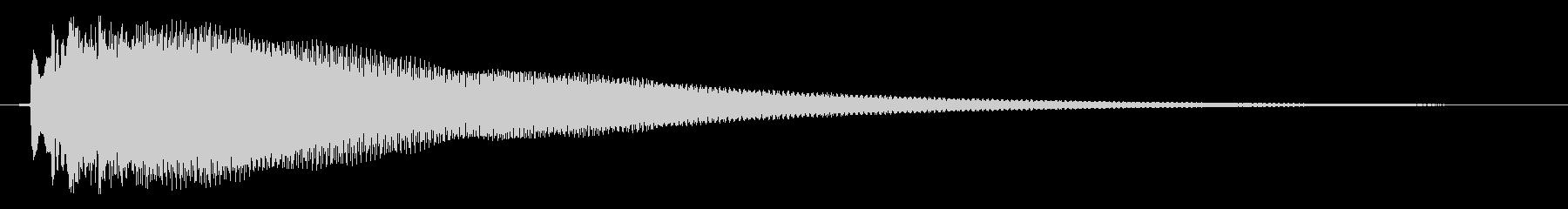 ひらめきの音の未再生の波形