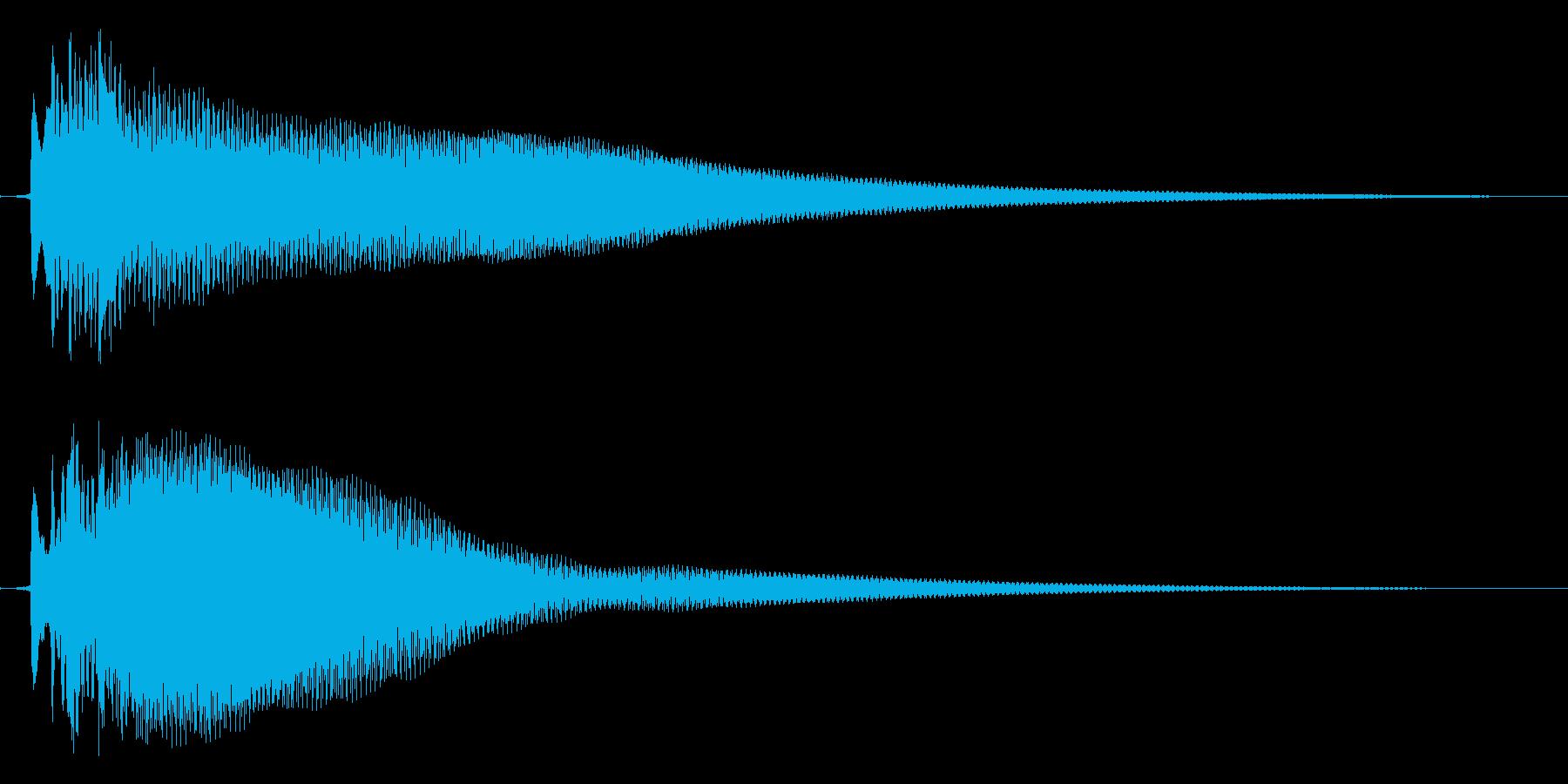 ひらめきの音の再生済みの波形