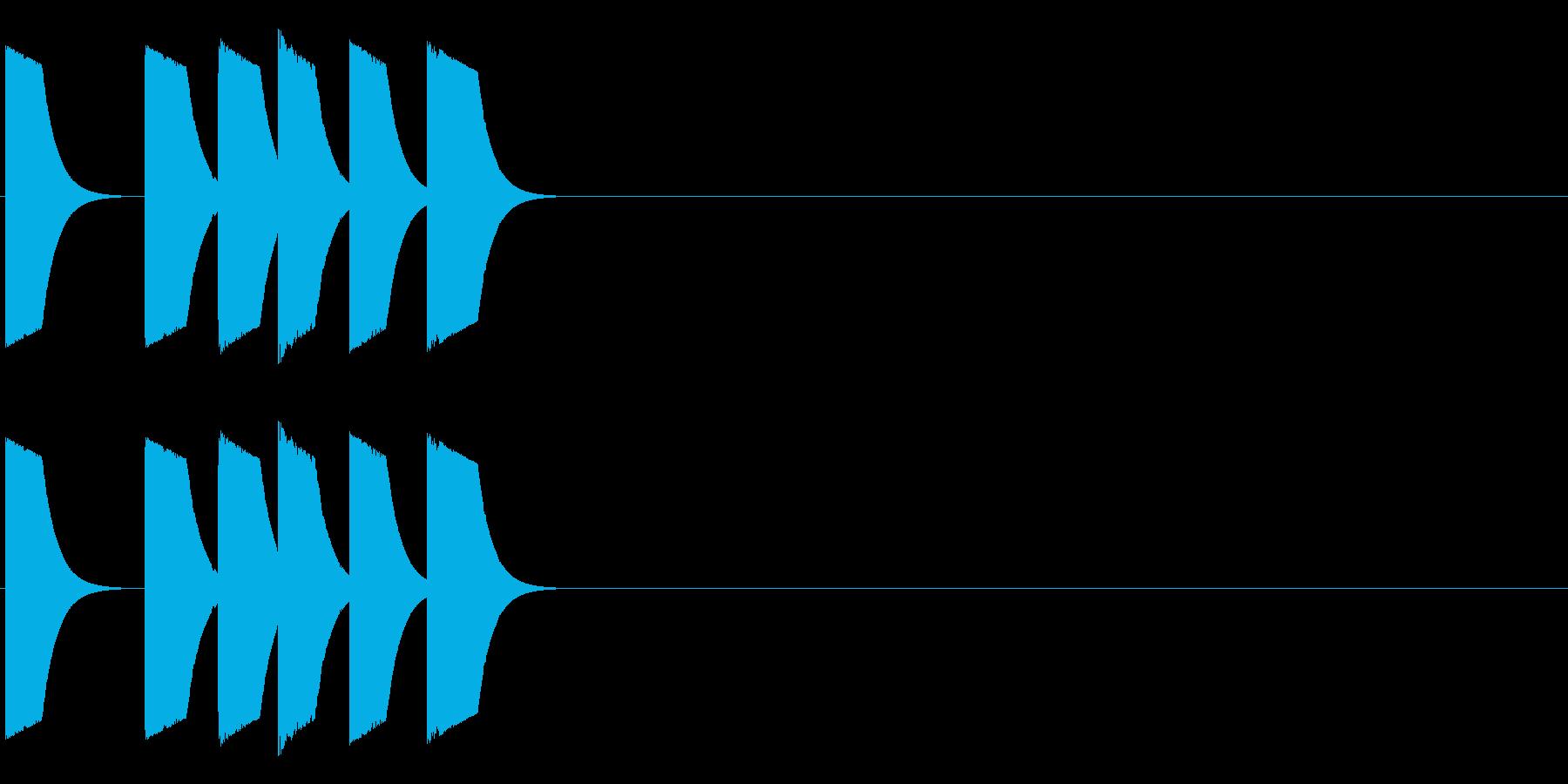 ピピポポの再生済みの波形