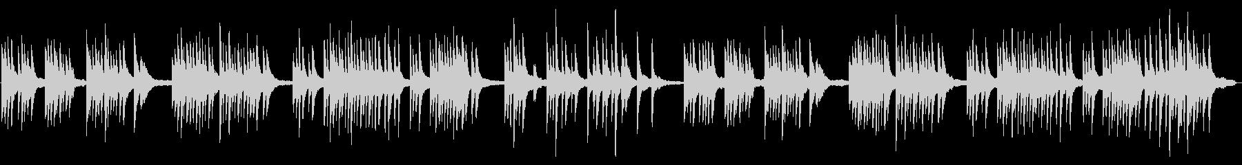 生ピアノの少しセンチメンタルな曲調の未再生の波形