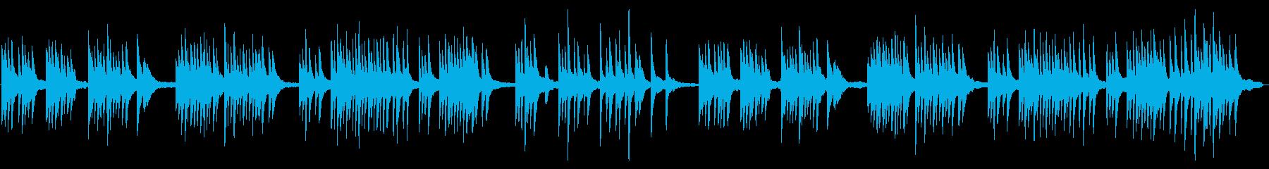生ピアノの少しセンチメンタルな曲調の再生済みの波形