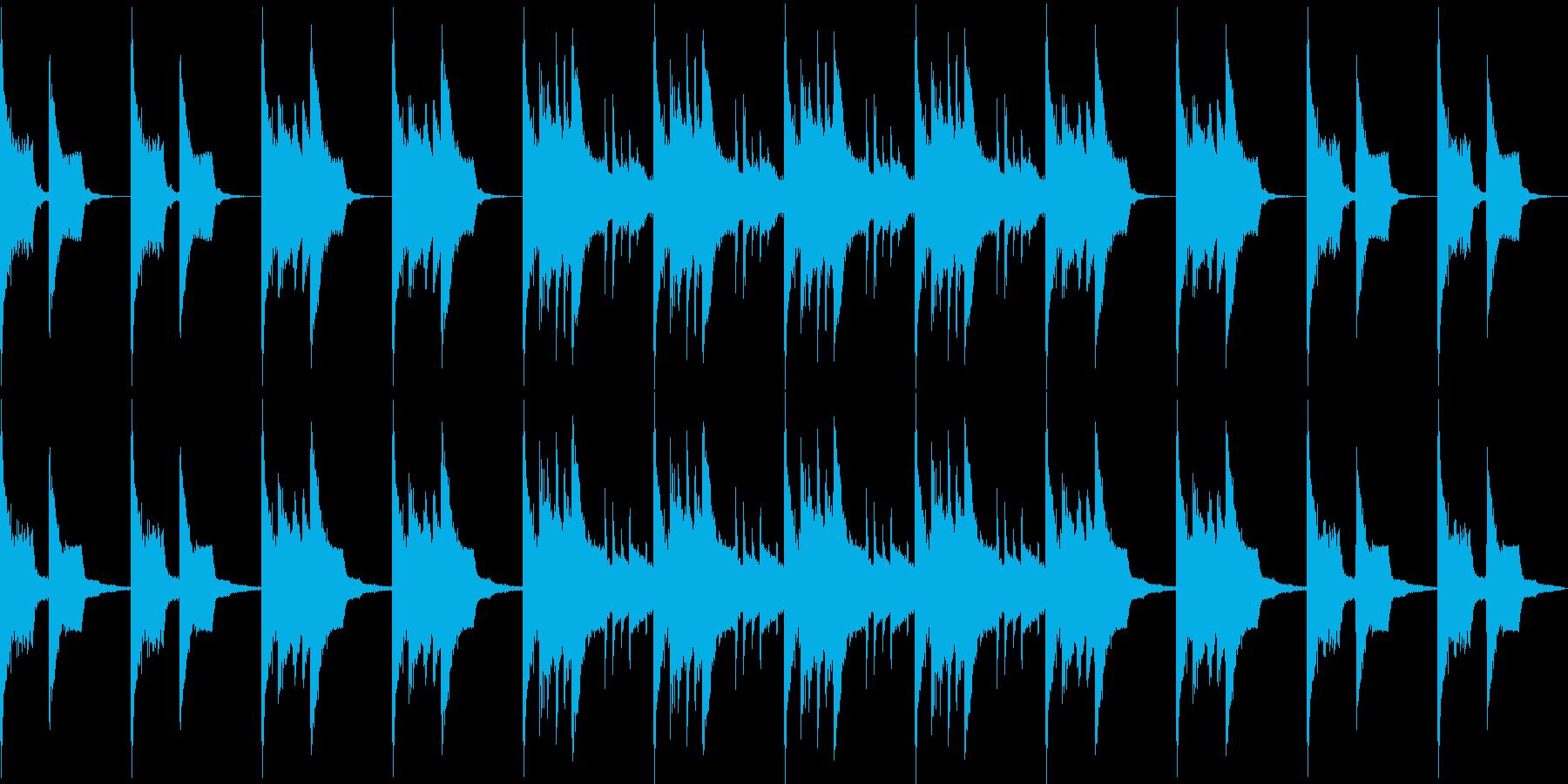 ピコピコした感動的なBGM/ファミコンの再生済みの波形