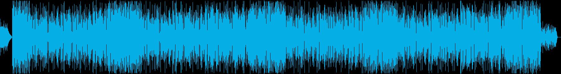 ストリングスが躍動するニュース系のポップの再生済みの波形