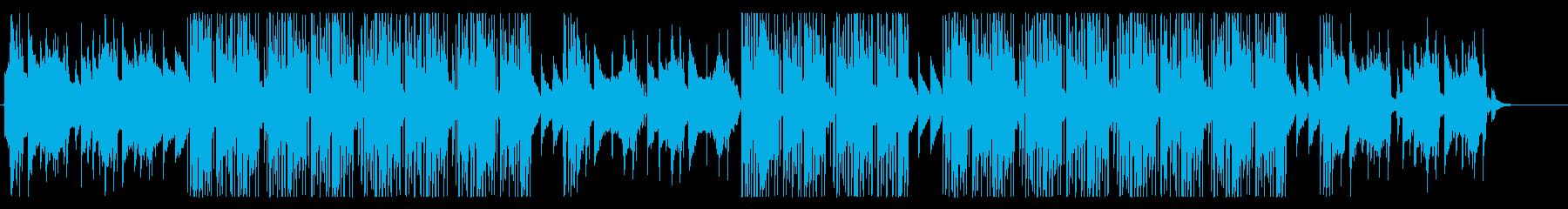 洋楽、冬の雰囲気のR&Bの再生済みの波形