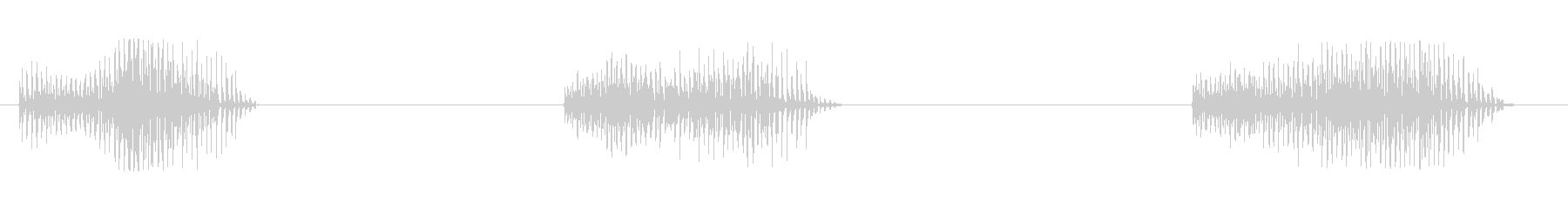 Vibraslap:3つの短い高速ラトルの未再生の波形