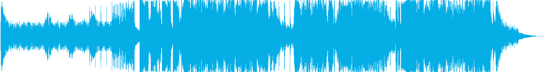 凶悪な雰囲気のDEATHSTEP系楽曲の再生済みの波形