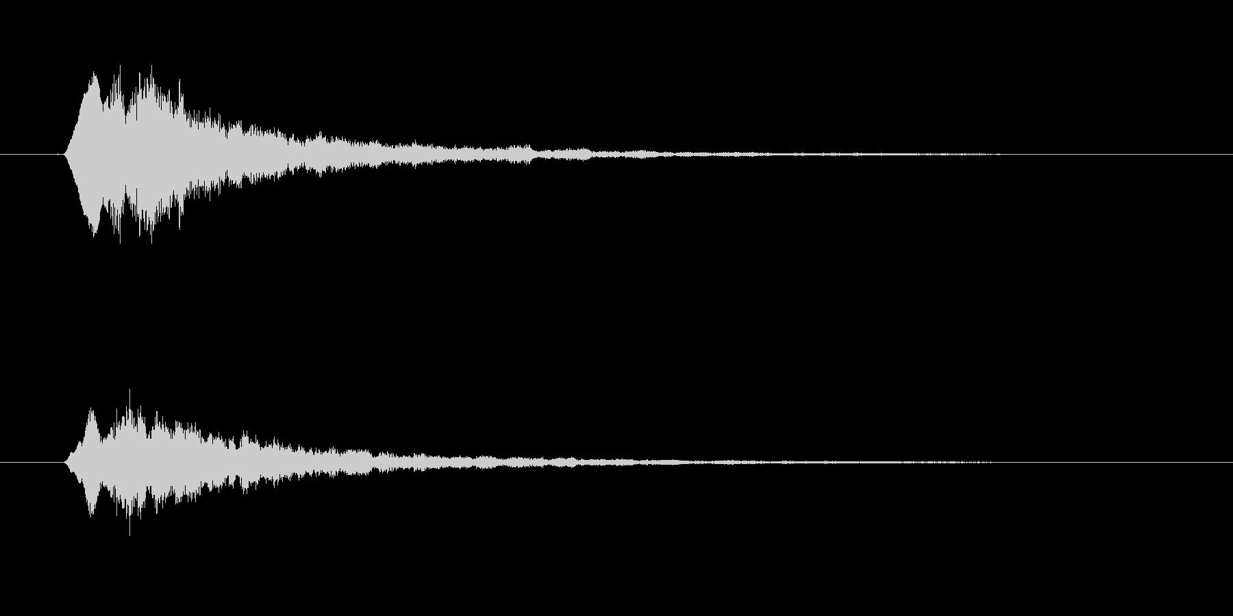 タラランラン(起動、終了音)の未再生の波形