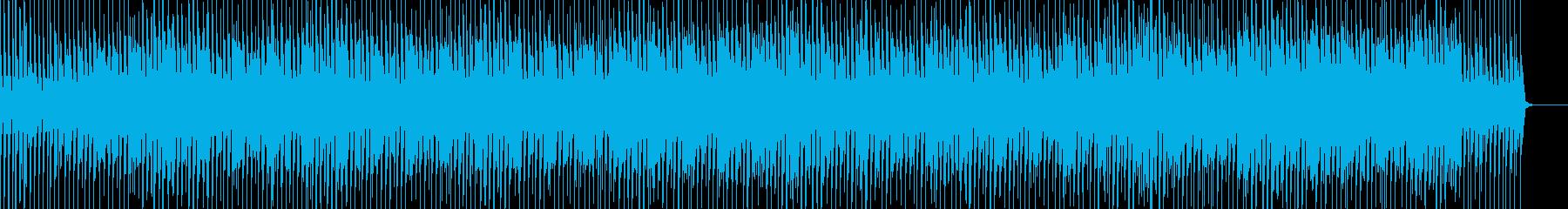 疾走感あふれるロックチューンの再生済みの波形