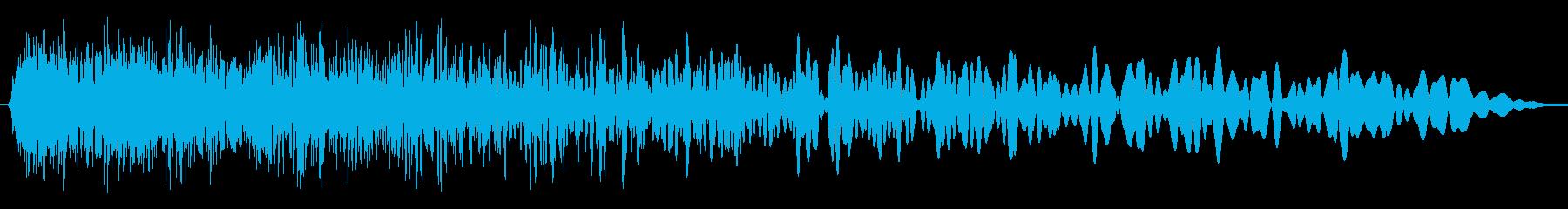 短い沈没ザップの再生済みの波形