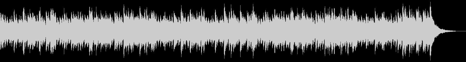 無機質で透明感のあるクールなピアノBGMの未再生の波形
