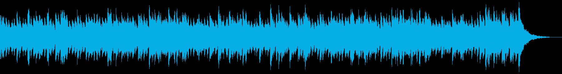 無機質で透明感のあるクールなピアノBGMの再生済みの波形