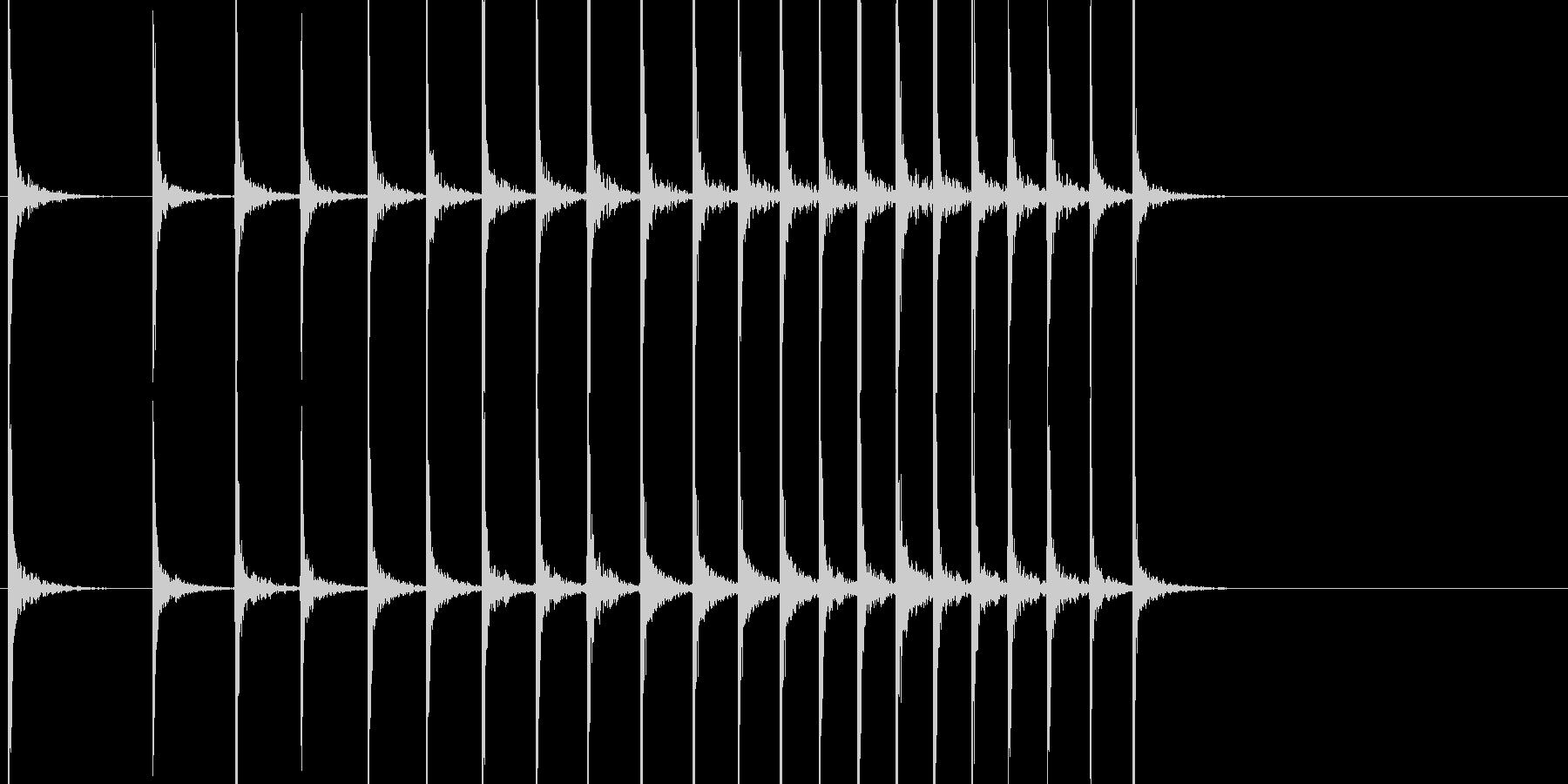 和風 拍子木 よくあるパターンの未再生の波形