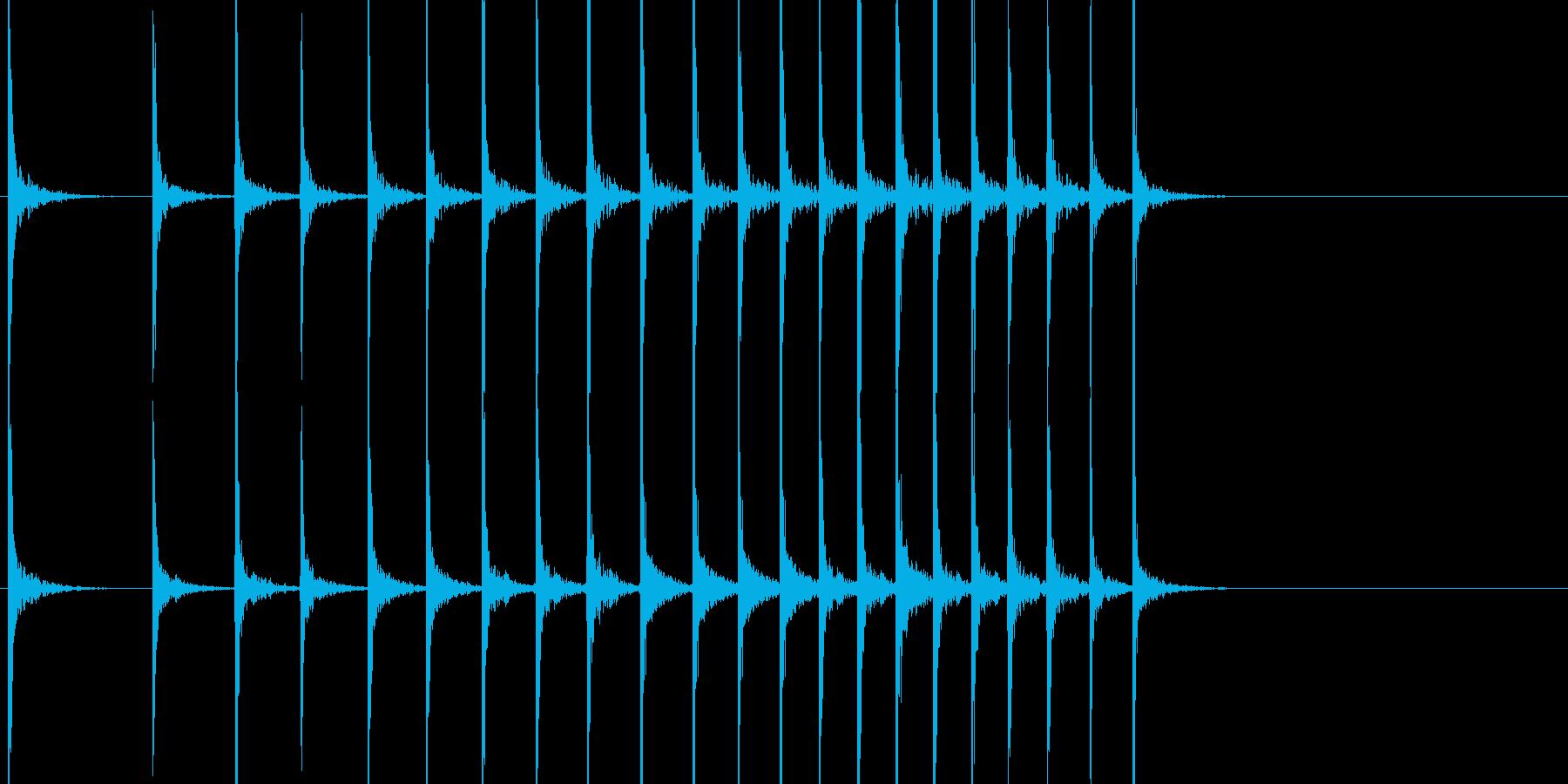 和風 拍子木 よくあるパターンの再生済みの波形
