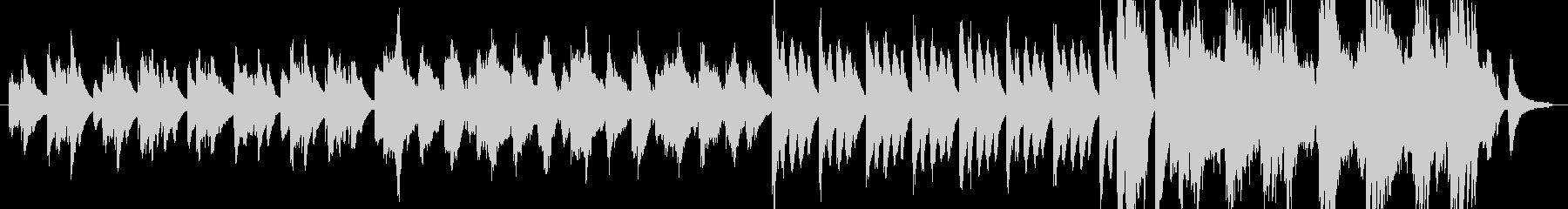 切ないメロディのピアノ曲の未再生の波形