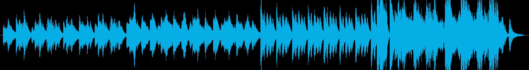 切ないメロディのピアノ曲の再生済みの波形
