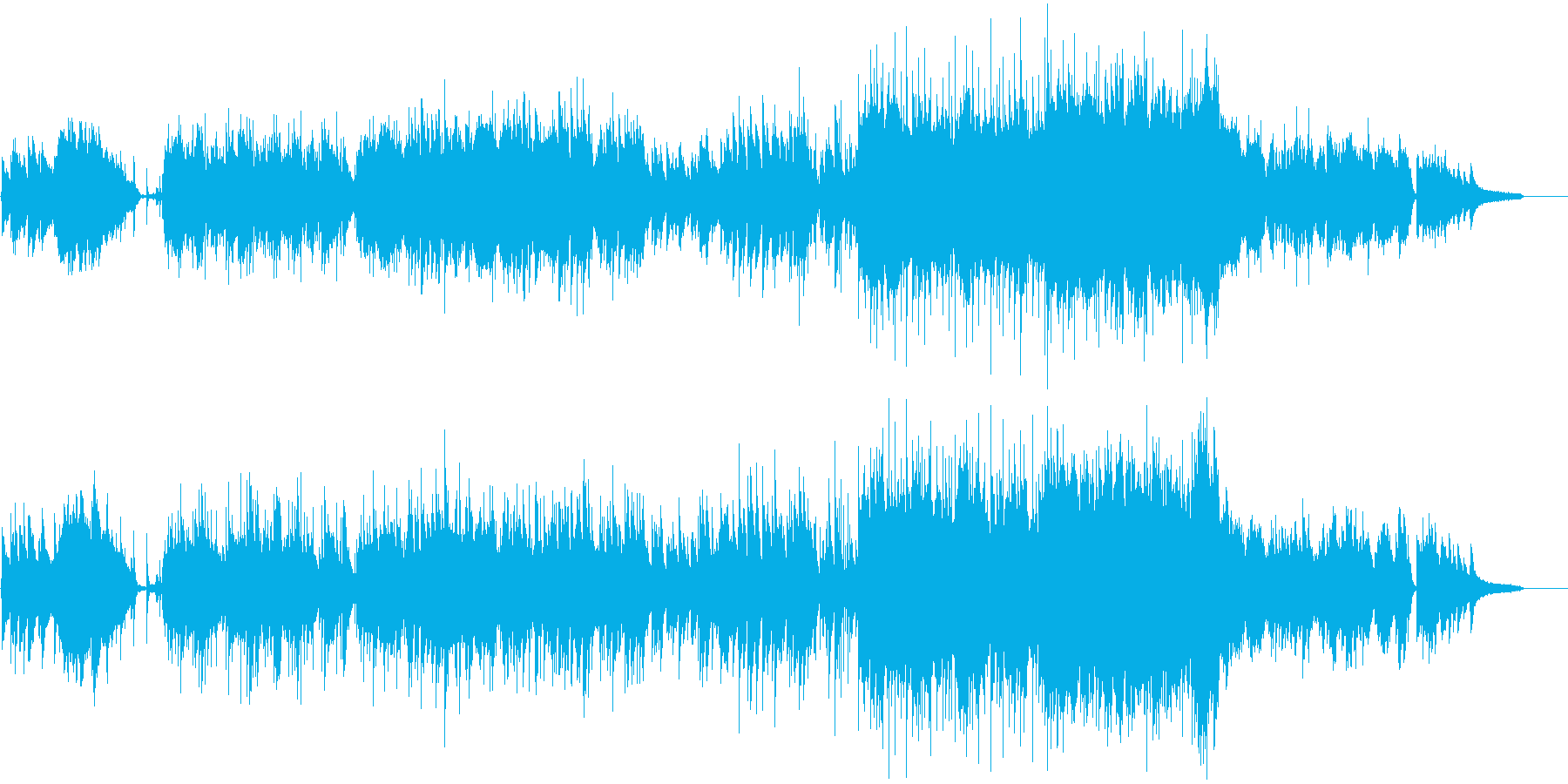 爽やかな雰囲気のBGMの再生済みの波形
