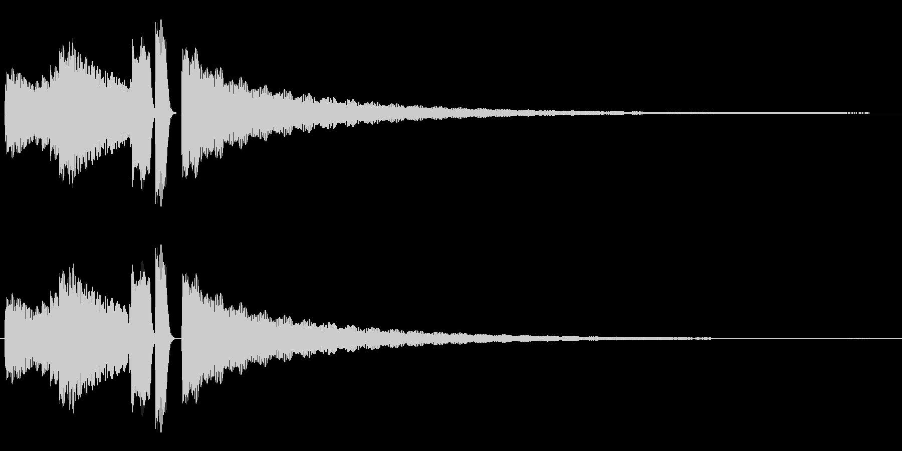 エレピによるジングル サウンドロゴの未再生の波形