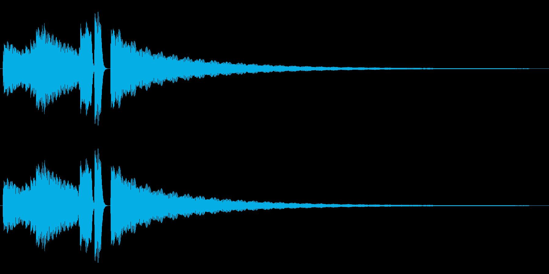 エレピによるジングル サウンドロゴの再生済みの波形