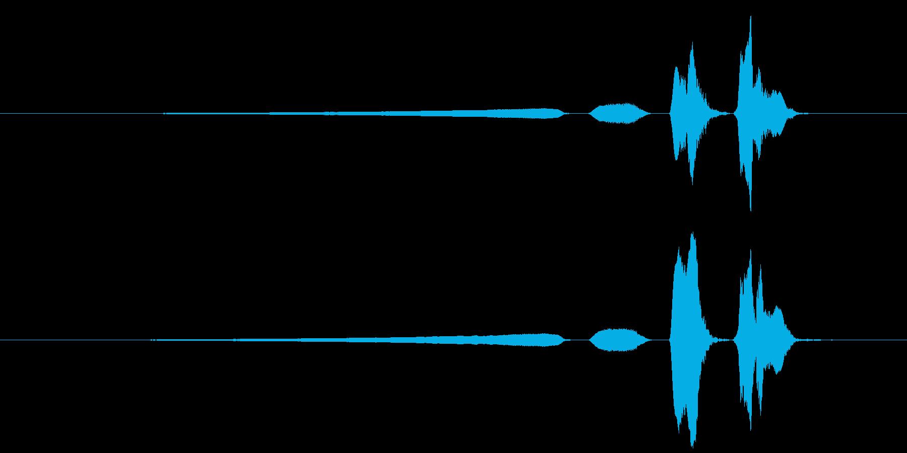 ウグイスのさえずり3の再生済みの波形