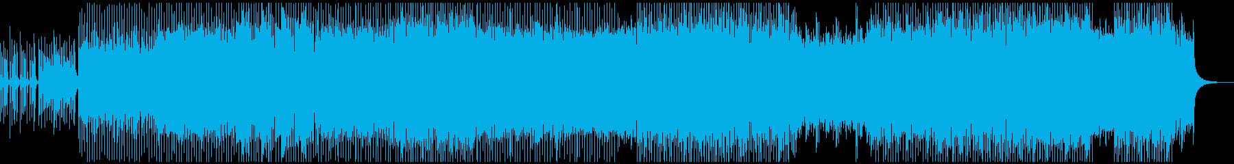 ポップで楽しげなEDMの再生済みの波形