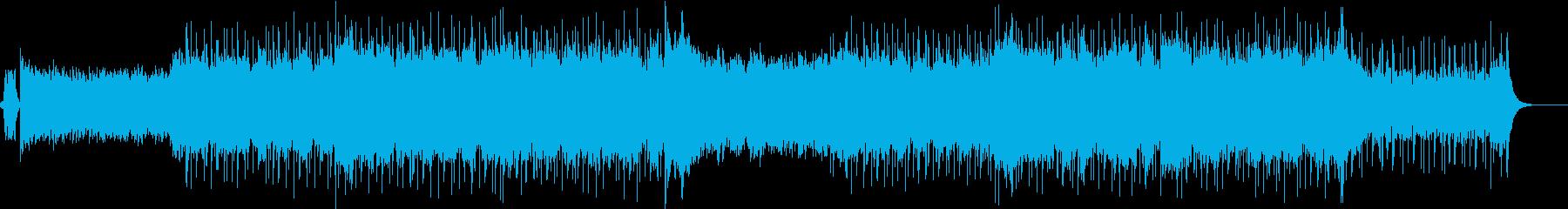 ロックリズムのシンセリードとアンサンブルの再生済みの波形