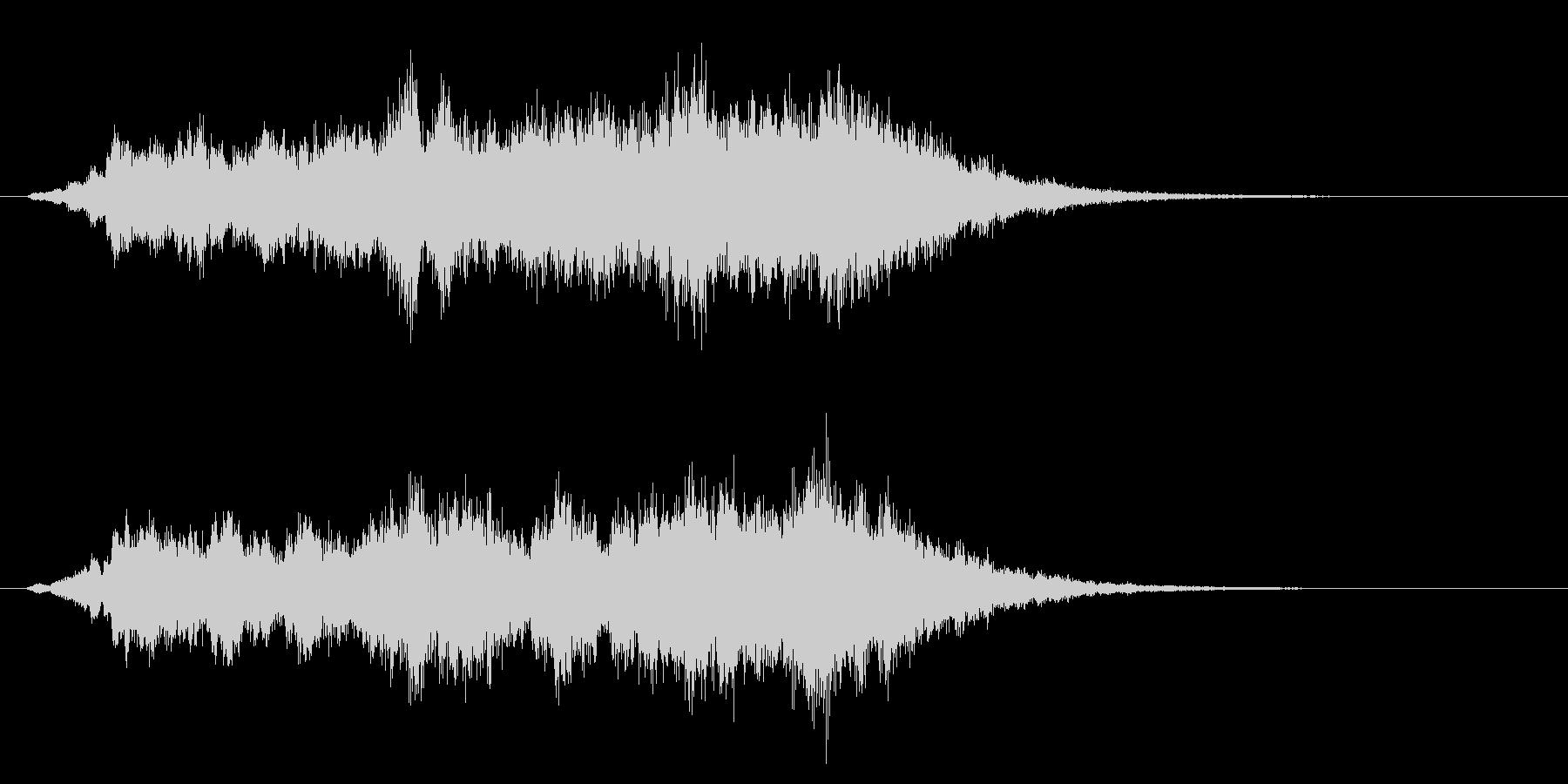 パソコンの起動音風ジングル1の未再生の波形