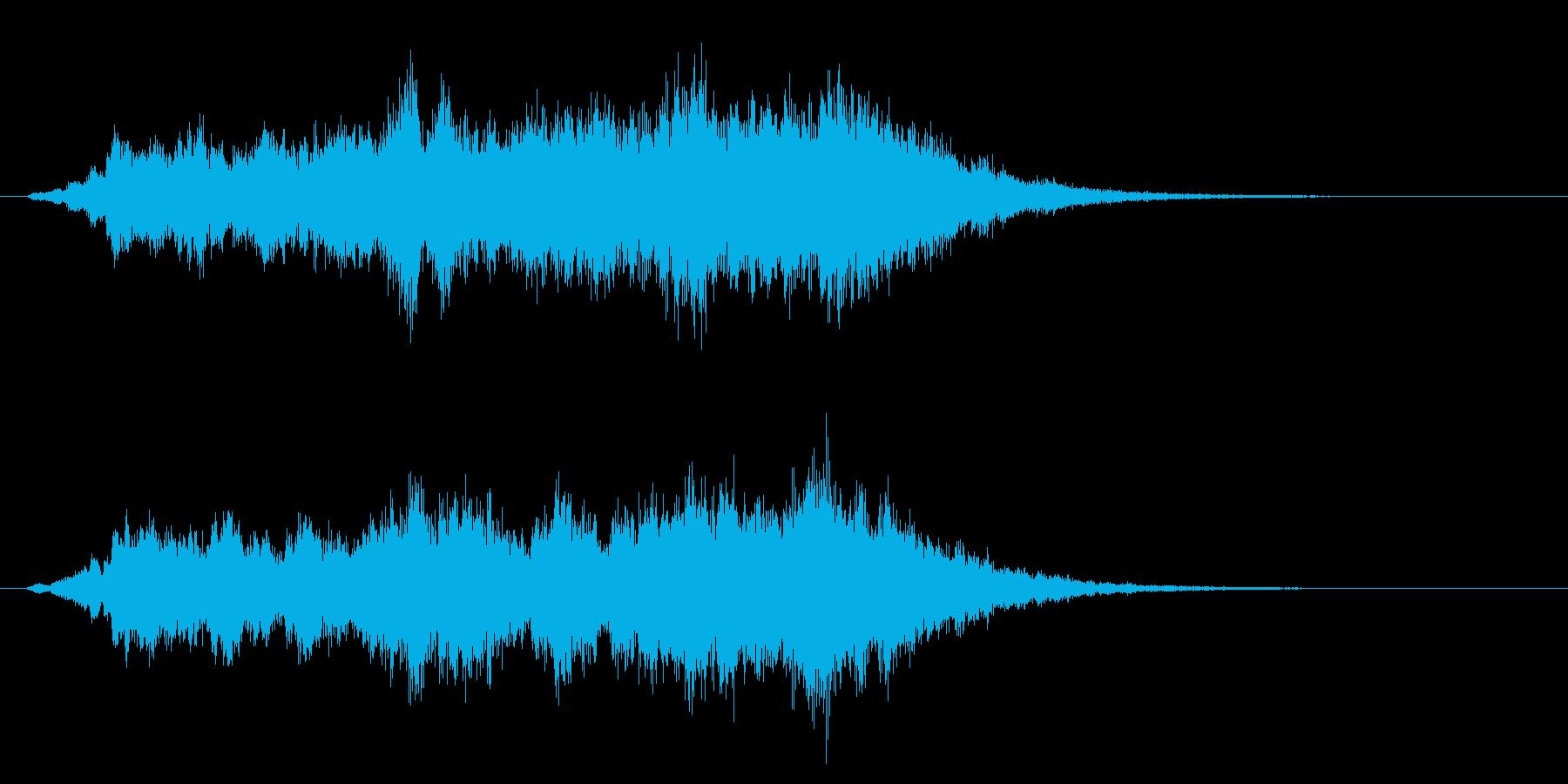 パソコンの起動音風ジングル1の再生済みの波形