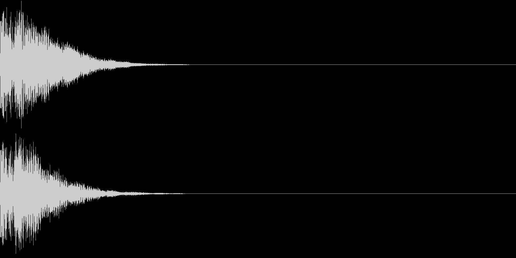 光る  輝く  キュピーン  キラーンAの未再生の波形