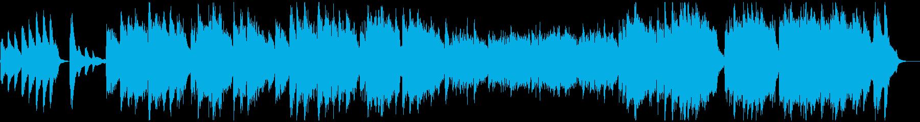 アメリカ国歌 ピアノと歌の再生済みの波形