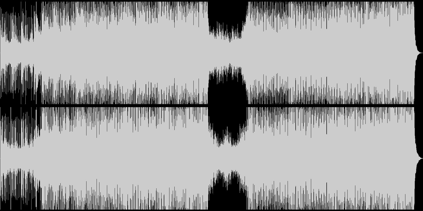 エネルギッシュで未来的なデジタルサウンドの未再生の波形