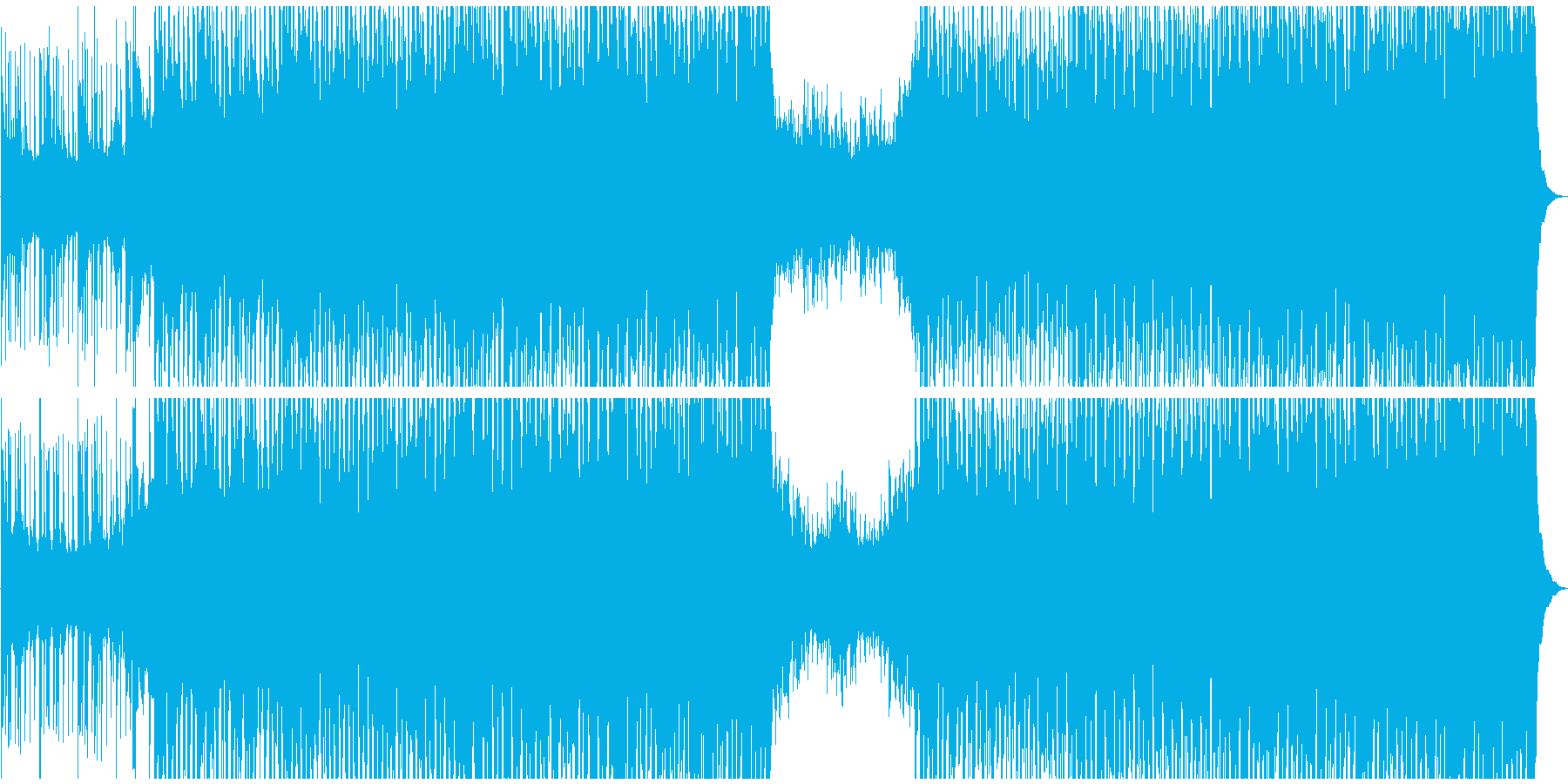 エネルギッシュで未来的なデジタルサウンドの再生済みの波形