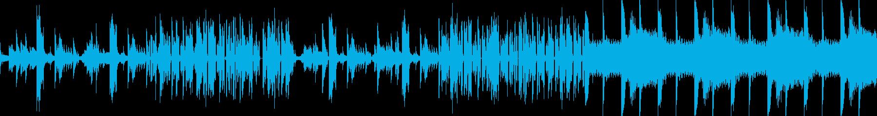 テクノ調シンセジングルの再生済みの波形