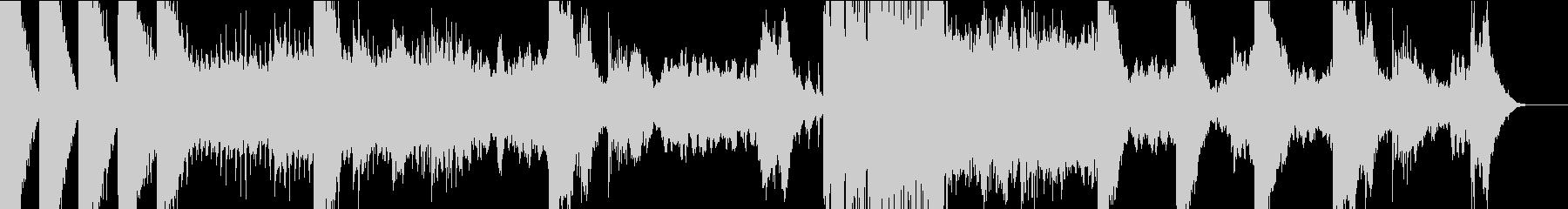 打楽器、シンセのダークなイメージの楽曲の未再生の波形