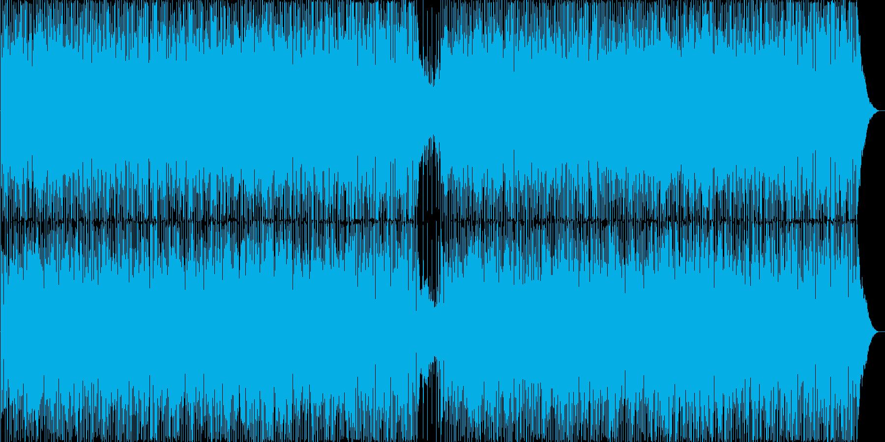 陽気でアップテンポなギターポップスの再生済みの波形
