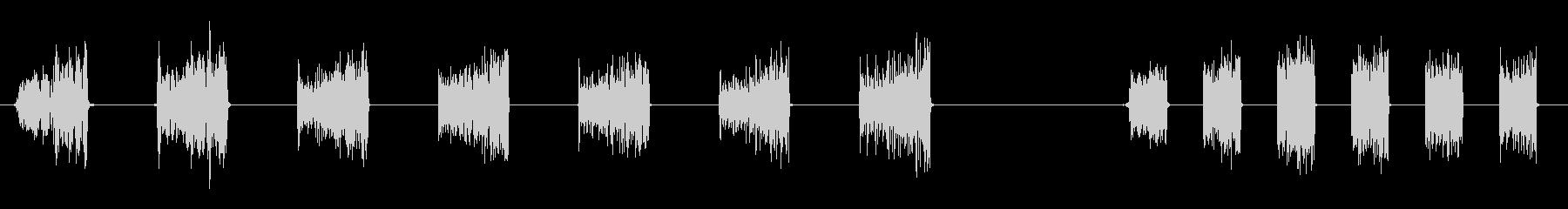 宇宙ロボットのコミュニケーションア...の未再生の波形
