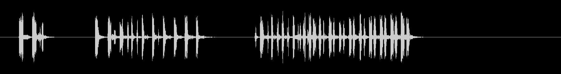 マーモットまたは小動物のきしむ音、...の未再生の波形