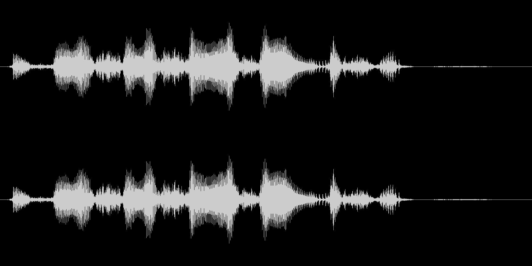 えへへへ 幼児(1~2歳)の笑い声の未再生の波形